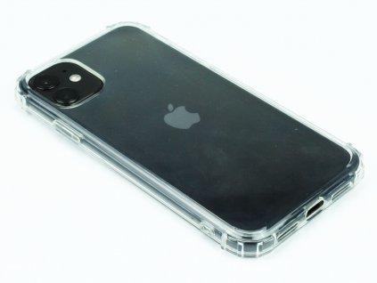 Gumový obal s vyztuženými hranami na iPhone 11 Průhledný 1
