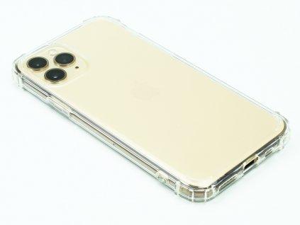 Gumový obal s vyztuženými hranami na iPhone 11 Pro Průhledný 1
