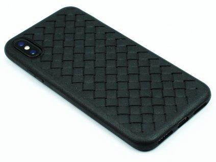 Gumový obal s vroubky na iPhone X,XS Černý 1