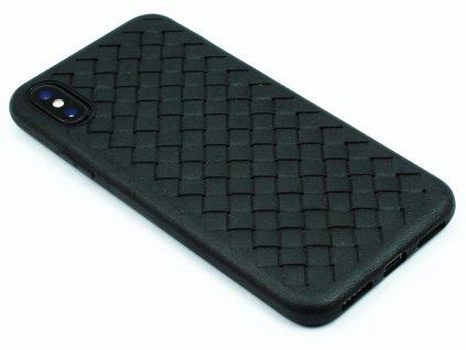 Gumový obal s vroubky na iPhone XS Max - Černý