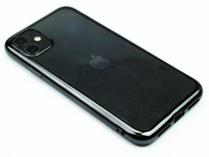 Gumový obal s lesklým rámečkem na iPhone 11 Černý 1