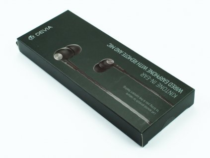 Sluchátka Devia, Kinote pro iPhone, iPad, iPod s 3,5mm jack konektorem Černá 1