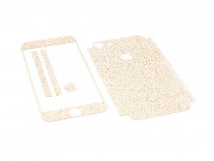 Třpytivá fólie 2v1 na iPhone 7,8 a iPhone SE 2020 Zlatá