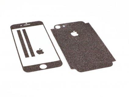 Třpytivá fólie 2v1 na iPhone 7,8 a iPhone SE 2020 Černá