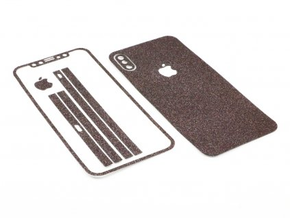 Třpytivá fólie 2v1 na iPhone X, iPhone XS Černá 1