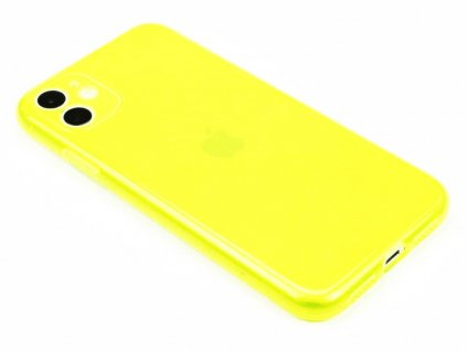 Fluorescentní obal na iPhone 11 Žlutý 1