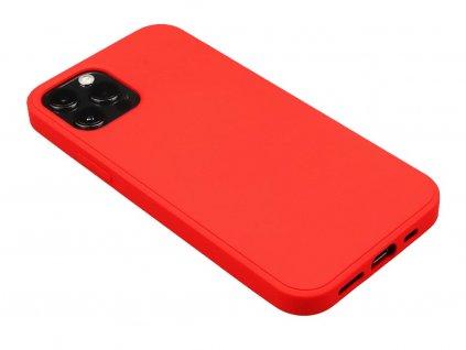 Silikonový obal na iPhone 12, iPhone 12 Pro Červený 1