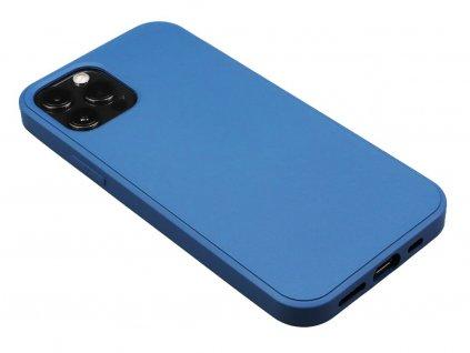 Silikonový obal na iPhone 12, iPhone 12 Pro Modrý 1