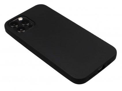 Gumový obal na iPhone 12, iPhone 12 Pro Černý 1