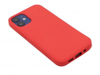 Silikonový kryt na iPhone 12 Mini Červený 1