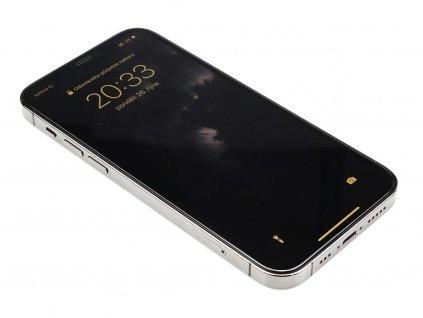 3D Tvrzené sklo na iPhone 12 Mini se silikonovými hranami PREMIUM