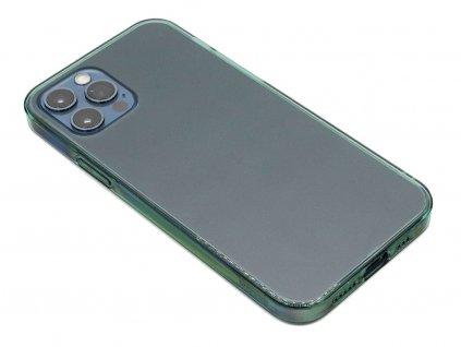 Baseus Frosted Glass ochranný kryt pro iPhone 12 (Pro) Zelený 1