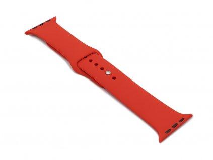 Silikonový řemínek na Apple Watch Červený