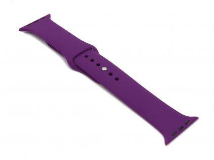 Silikonový řemínek na Apple Watch Fialový