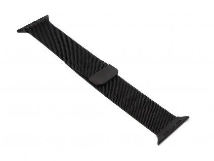 Ocelový řemínek na Apple Watch Černý