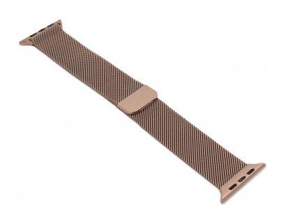 Ocelový řemínek na Apple Watch Zlatý