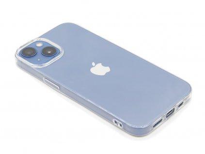 Gumový obal na iPhone 13 Průhledný