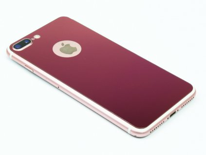 Barevné Tvrzené sklo pro iPhone 7,8 PLUS Růžové