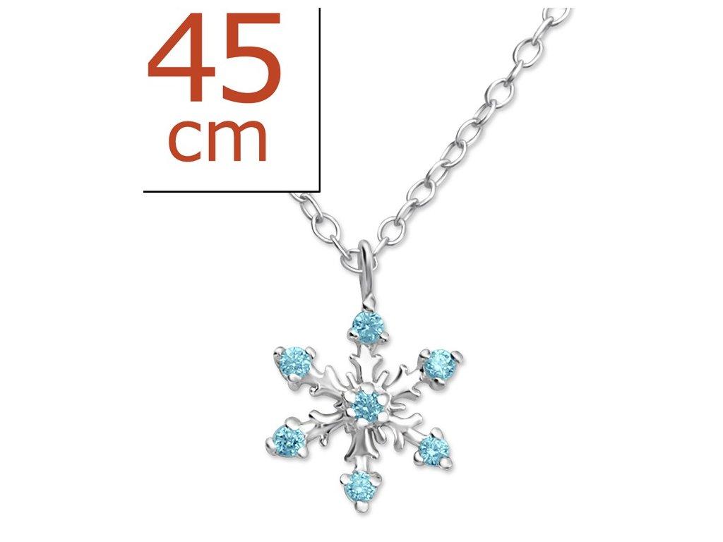 Stříbrný dámský náhrdelník - VLOČKA