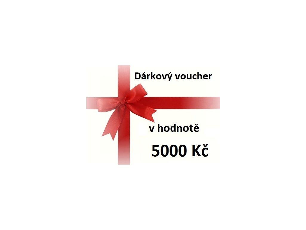 voucher 5000 Kč