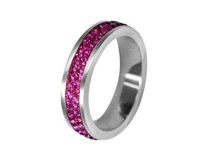 prsten rssw02 fuchsia s krystaly swarovski elements