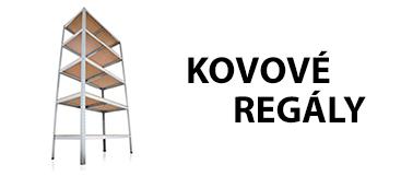 POLICOVÉ REGÁLY KOVOVÉ - MDF POLICE