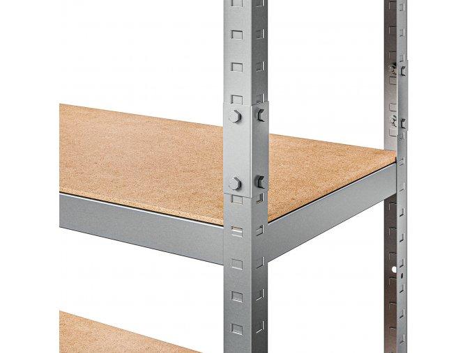 Kovový regál Řada Standard II 180x90x40 nosnost regálu 1000 kg 5 políc