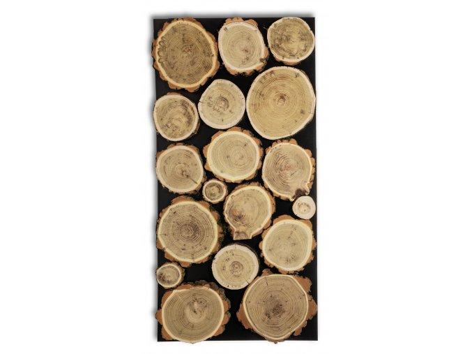 Dřevěný obklad na stěnu- Akácie 2 ks v balení PSDM_076X038X03_NAK2
