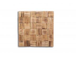 Dřevěný obklad na stěnu- Opálená 4 ks v balení PSDD_392X392X13_FSK4