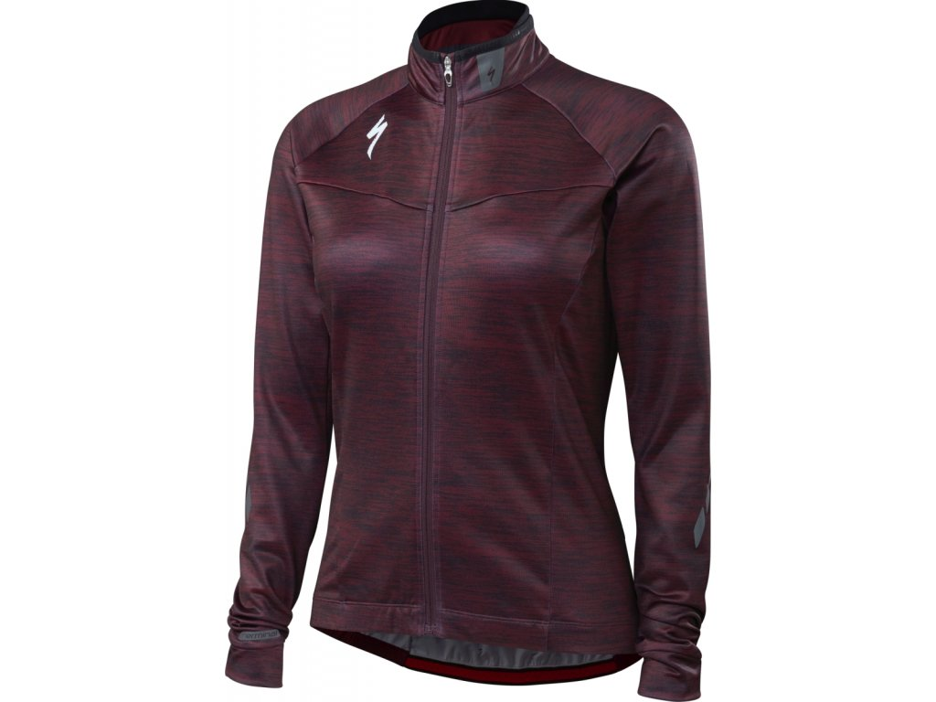 Specialized Women's Therminal™ Long Sleeve Jersey - Black Ruby