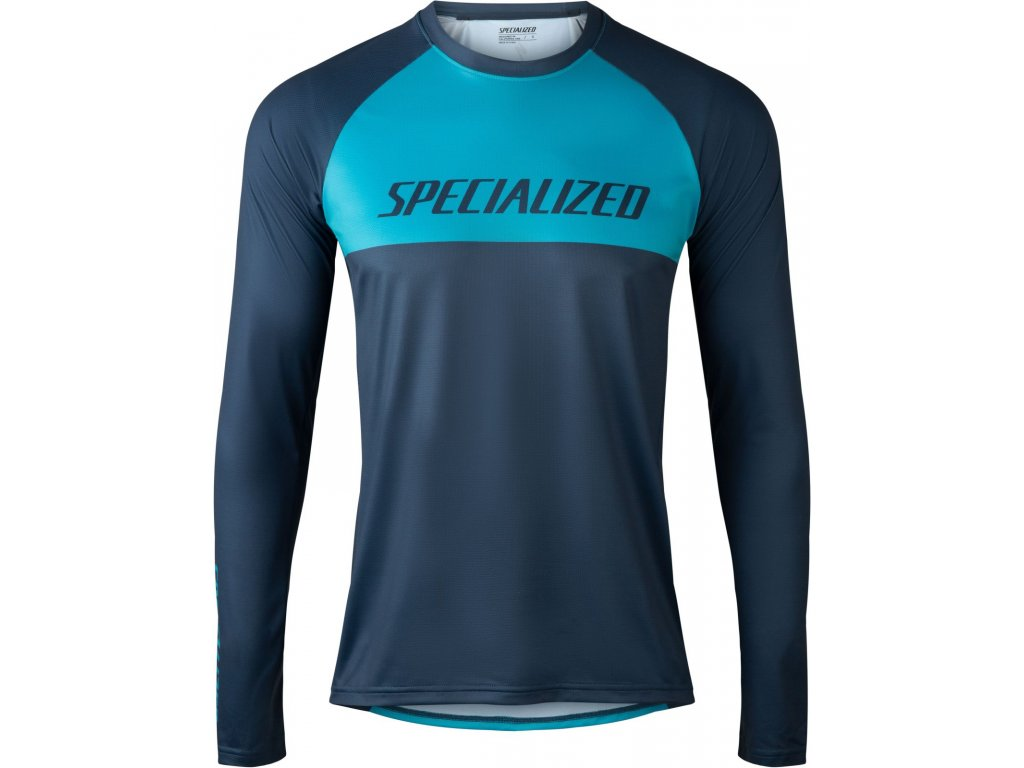 Specialized Demo Pro Long Sleeve Jersey Aqua / Cast Blue Block (Velikost S)