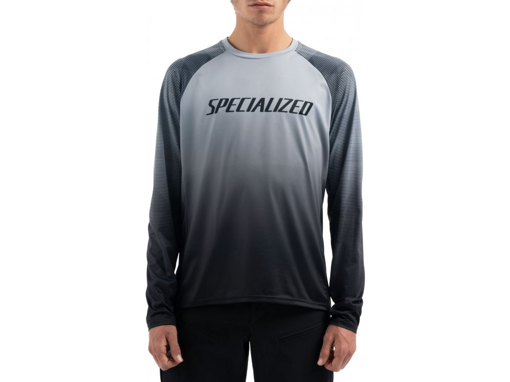 Specialized Enduro Air Long Sleeve Jersey Black / Charcoal Refraction (Velikost S)