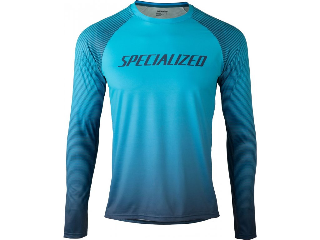Specialized Enduro Air Long Sleeve Jersey Aqua / Cast Blue Refraction (Velikost S)