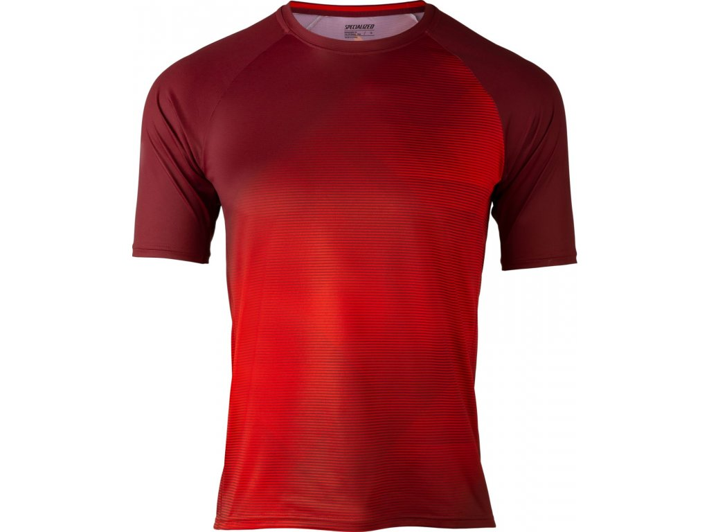 Specialized Enduro Air Short Sleeve Jersey Crimson / Rocket Red Refraction