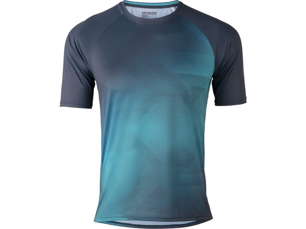 Specialized Enduro Air Short Sleeve Jersey Cast Blue / Aqua Refraction (Velikost S)