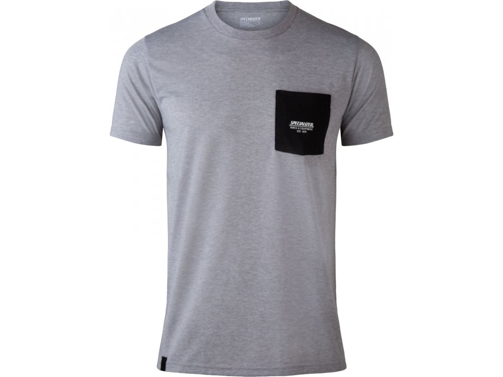 Specialized Men's Specialized Pocket Tee Charcoal (Velikost S)