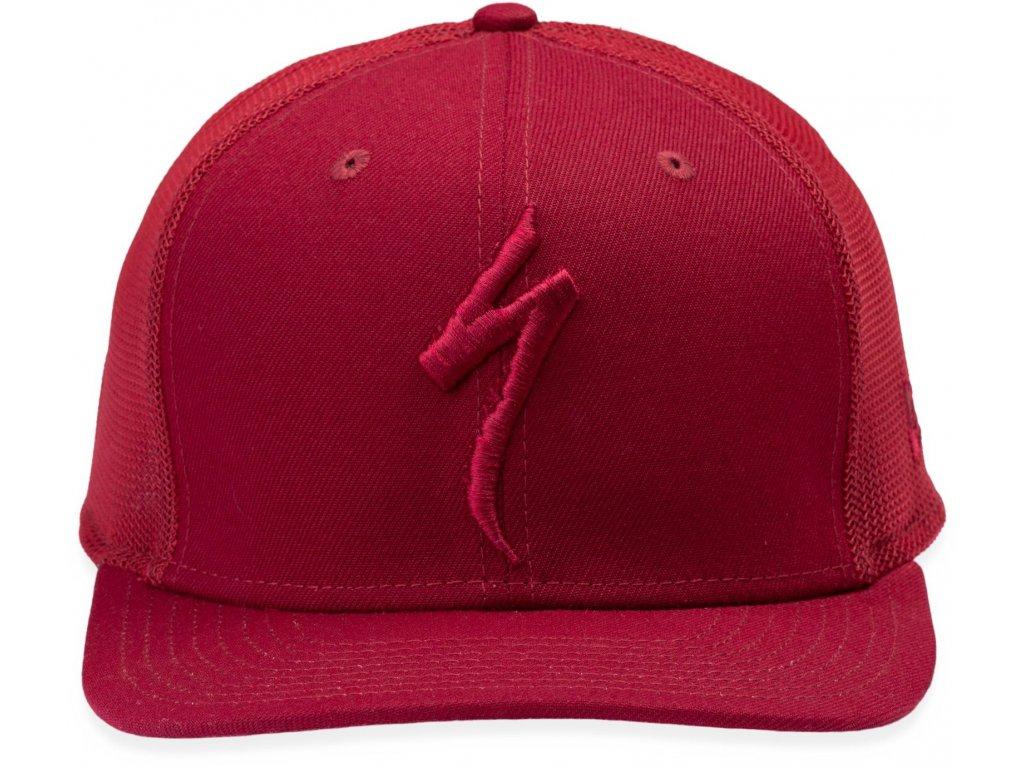 Specialized New Era S-Logo Trucker Hat Crimson (Velikost Uni)