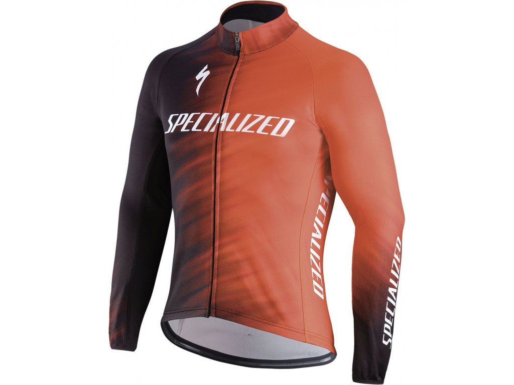 Specialized Therminal SL Team Expert LS Jersey Rocket Red/Black Faze (Velikost XS)