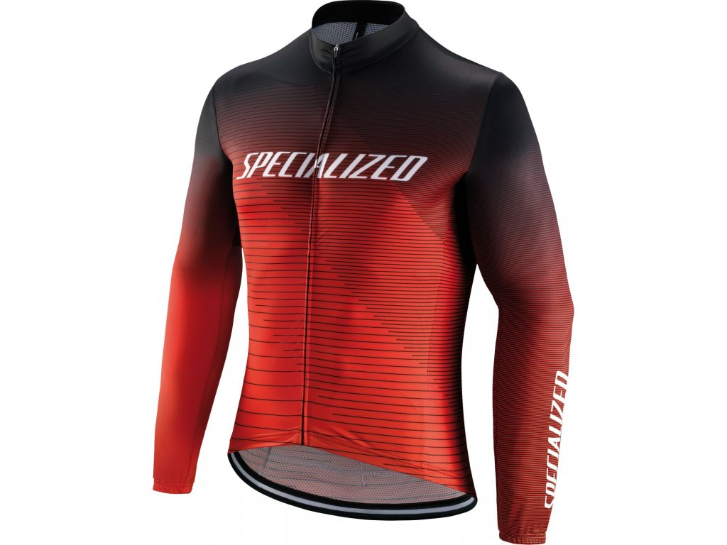 Specialized RBX Comp Logo Team LS Jersey Black/Rocket Red/Red