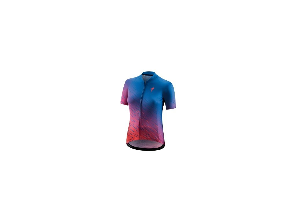Specialized SL SS Women's Jersey Pro Blue/Acid Pink (Velikost XS)