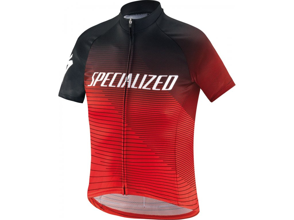 Specialized RBX Comp Logo Team Youth SS Jersey Black/Rocket Red/Red (Velikost XS)