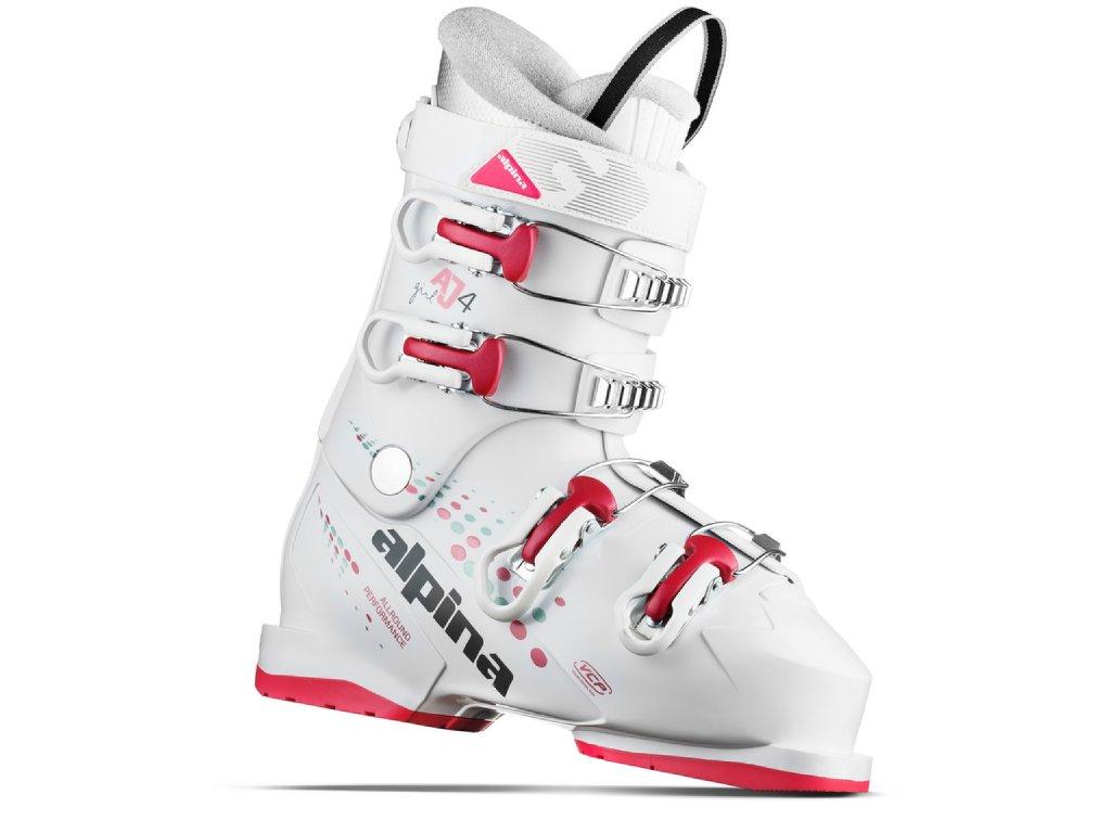 Juniorské lyžařské boty Alpina AJ4 GIRL MP - white