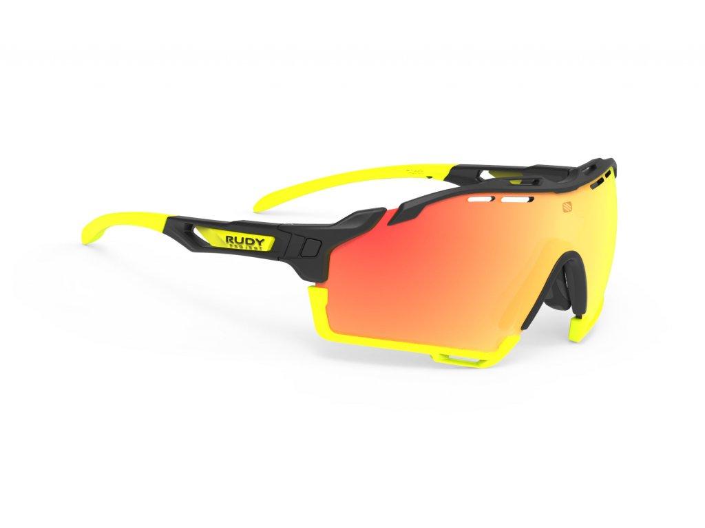 Brýle CUTLINE - Black/Multilaser Orange