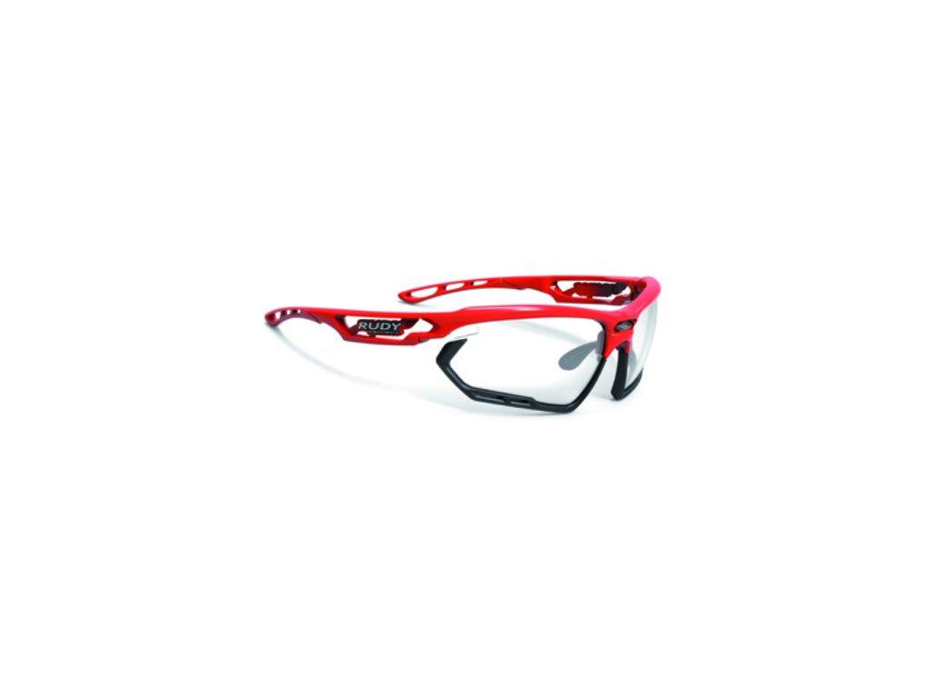 Brýle FOTONYK - Fire Red Gloss/ImpactX Photochromic 2 Black
