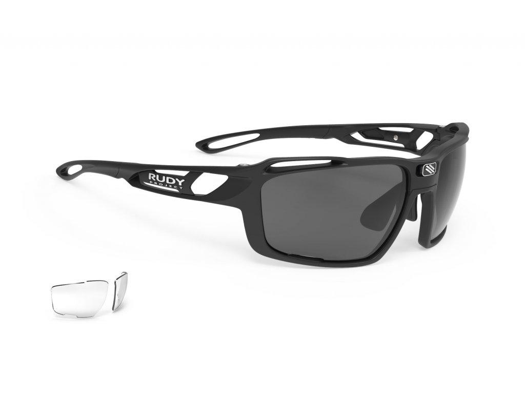 Brýle SINTRYX - Black Matte/RP Optics Smoke Black + Transparent