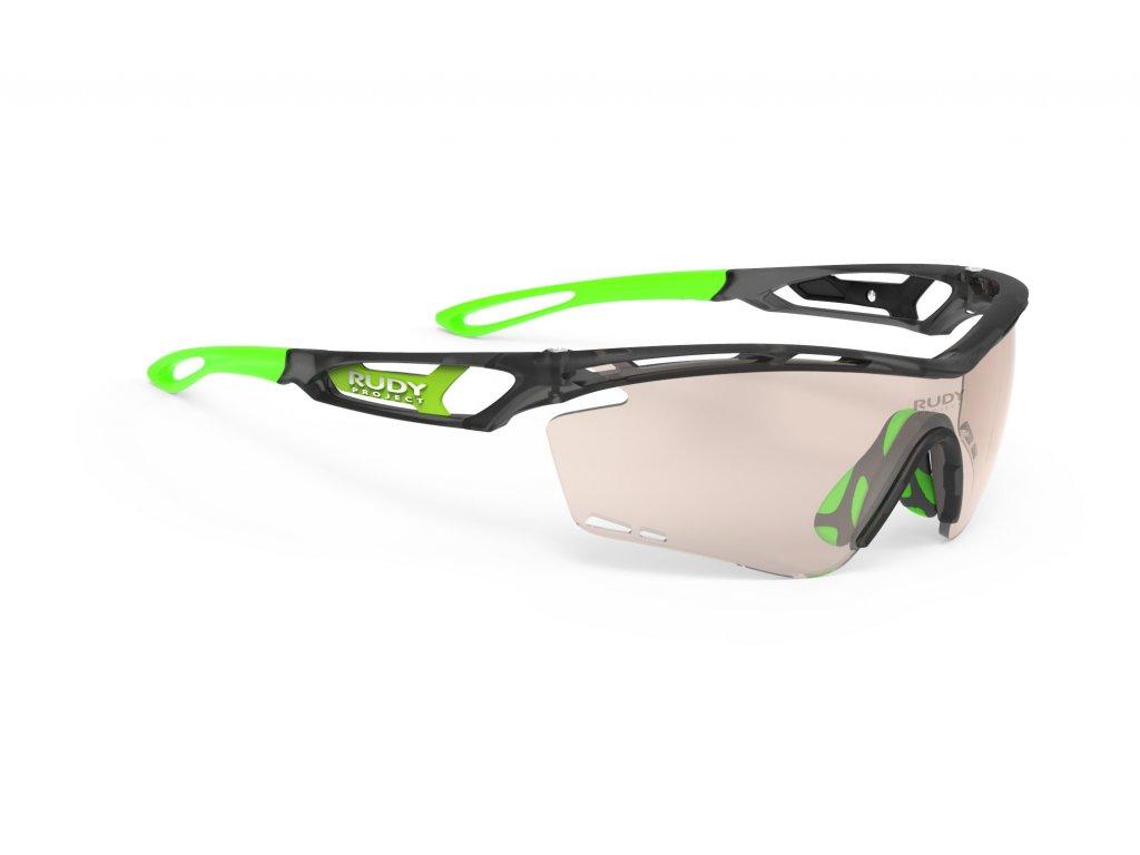 Brýle TRALYX - ice Graphite Matte/ImpactX Photochromic 2 Laser Brown
