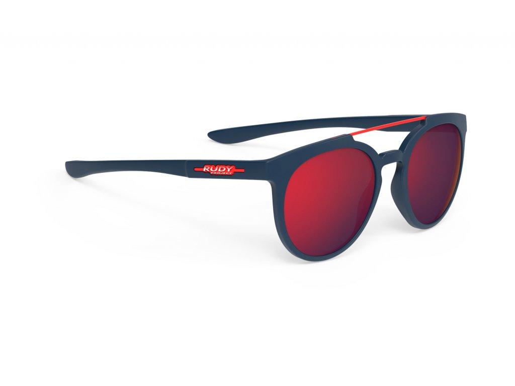 Brýle ASTROLOOP - Blue Navy Matte/Multilaser Red