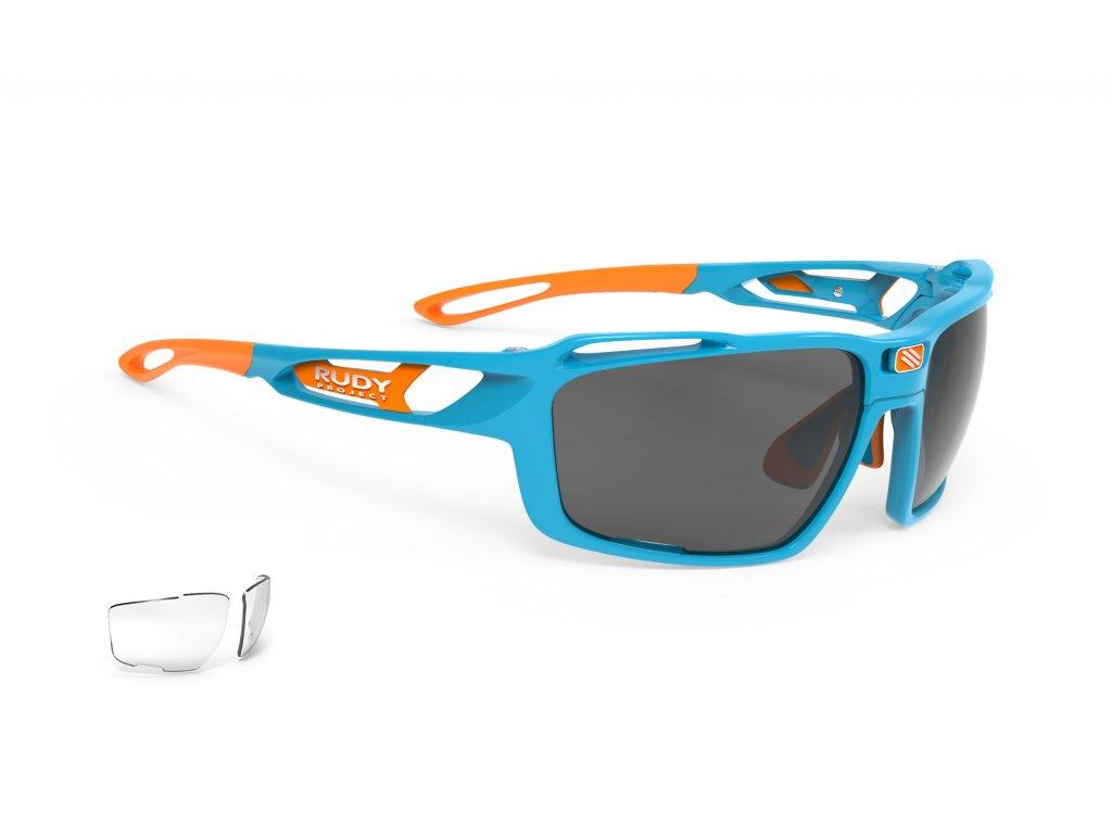 Brýle SINTRYX - Azur Gloss/RP Optics Smoke Black + Transparent