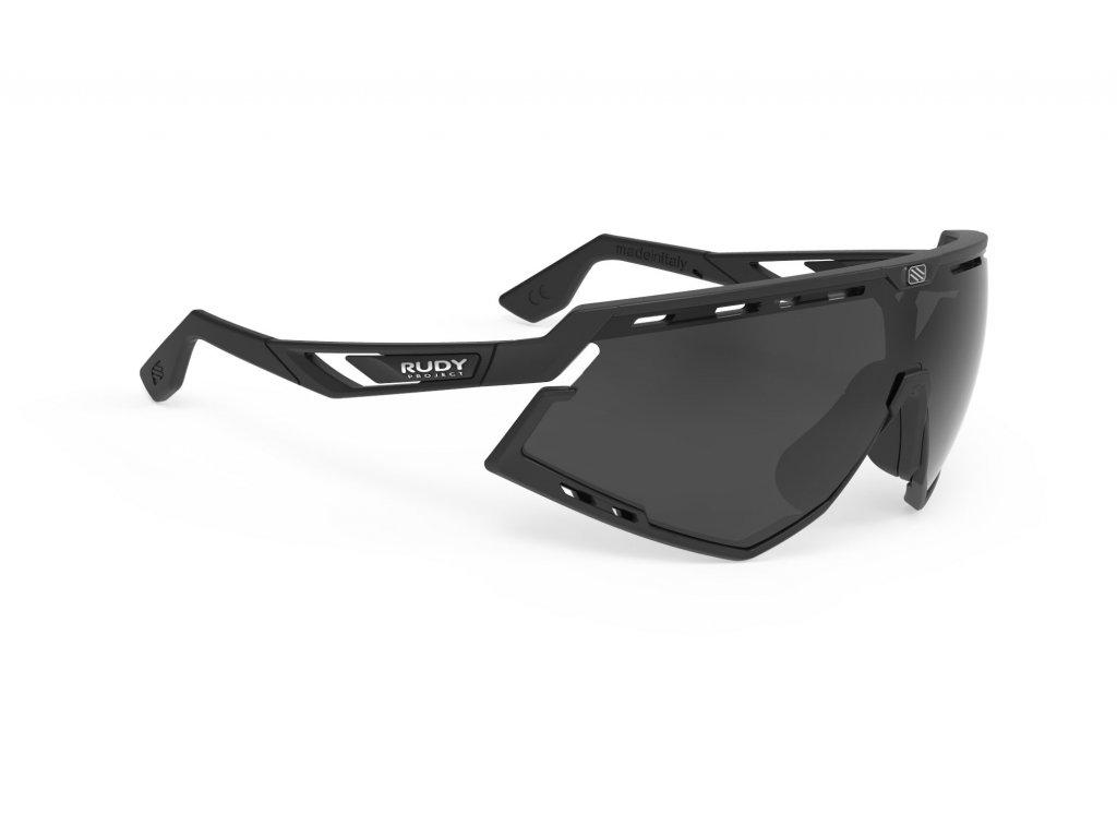 Brýle DEFENDER - Black Matte/RP Optics Smoke Black