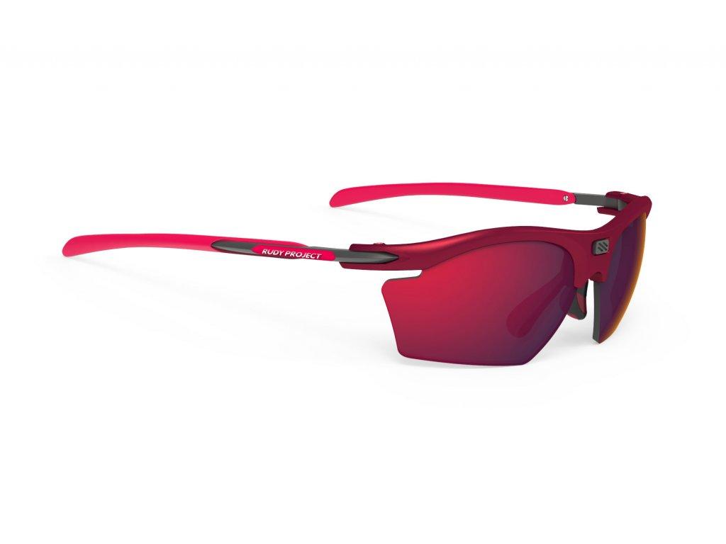 Brýle RYDON SLIM - Merlot Matte/Multilaser Red